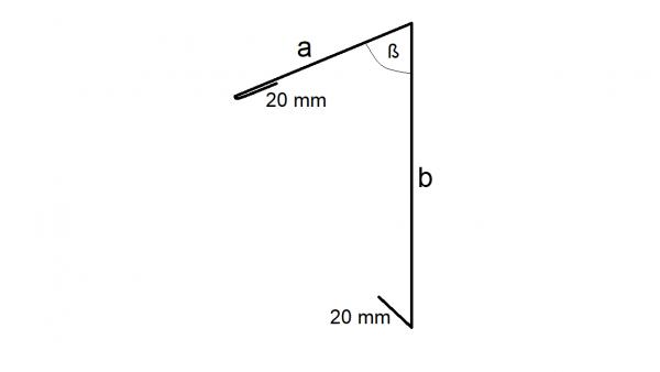 Dachrandprofil, Aluminium, 330 mm Zuschnitt